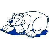 Eisbär Aufkleber 001, 15 cm, blau