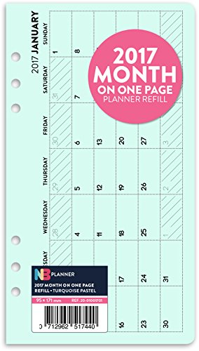 2017-month-on-one-page-planner-refill-insert-filofax-personal-compatible-turquoise-pastel