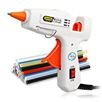 E.Durable Hot Melt Glue Gun Kit with 40 Multi-Colored Glue Sticks for DIY Handcraft School Projects/Home Arts/Crafts/Repair | Flexible Trigger |