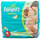 Pampers Baby Dry taille 4pack avec 27couches pour