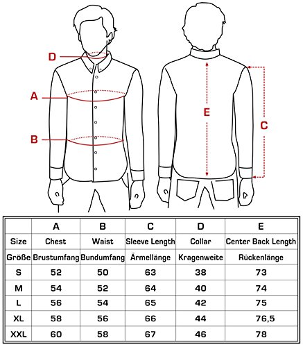 Jeel Langarm Herren Hemd Basic Business Anzug Freizeit Hochzeit Slim Fit, Größen S - 2XL + Krawatte Rosa