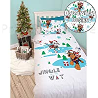 Paw Patrol Single Christmas Duvet Set – Snowdog Design Perfect Christmas Bedding