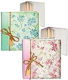alles-meine.de GmbH 2 Stück _ Fotobücher / Gästealben -  Edel - Blüten & Blumenranken Grün & Rosa..