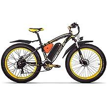 RICH BIT® RT-012 1000 W bicicleta eléctrica para bicicleta Cruiser bicicleta Ciclismo 48 V 17Ah batería de alta capacidad 7 speed horquilla de suspensión ...