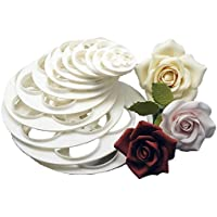 Sanwood 6Pcs Cake Sugar Craft Rose Flower Cookie Mould Tool