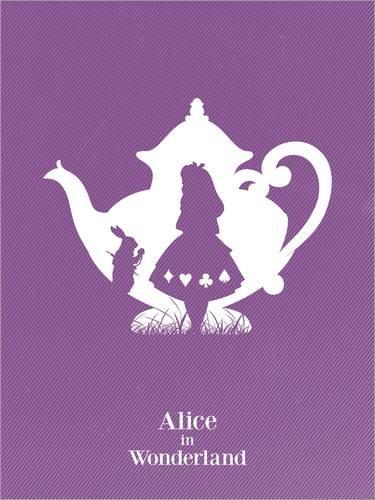 Poster 50 x 70 cm: Alice in wonderland art movie inspired di Golden Planet Prints - stampa artistica professionale, nuovo poster artistico