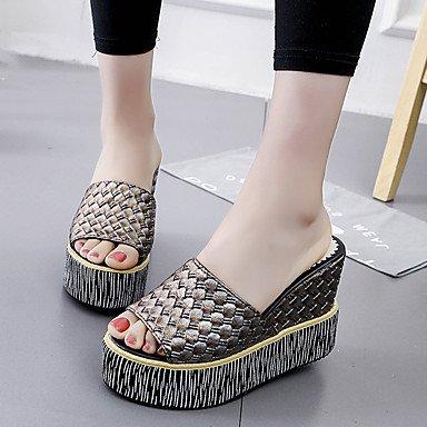Scarpe Donna FYZSWOMEN'S & Pantofole Infradito Estate Club Primavera scarpe antiscivolo Comfortflange abito casual cuneo H US8 / EU39 / UK6 / CN39