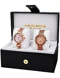 Akribos XXIV Set de 2 relojes AK886RG