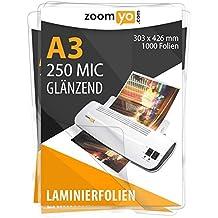 2 x 175 mic 80 x 111 mm 100 St/ück r/&b FT-A7-175 Laminierfolien A7