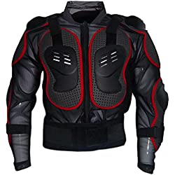 Dexinx Chaqueta de la Armadura de la Motocicleta de la Montaña de Motocross Ciclismo Patinaje de Snowboard Protector del Cuerpo Rojo XL