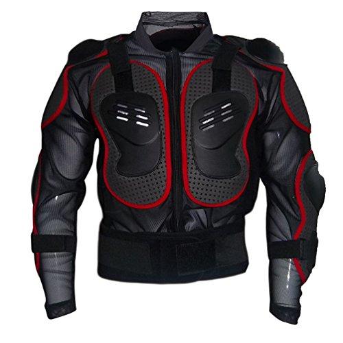Dexinx Motorrad Rüstung Jacke Motocross Mountain Radfahren Skating Snowboard Body Protector Rot 2XL