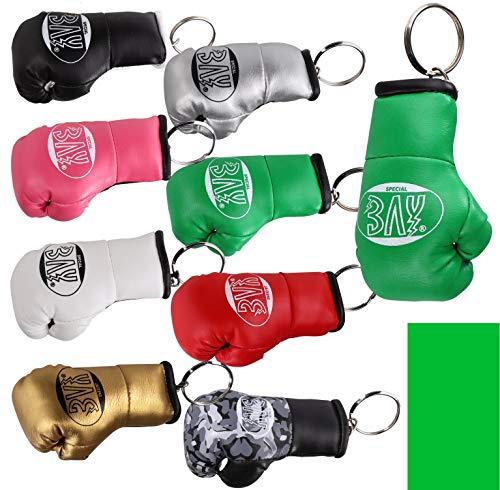 Bay Leder Tasche (BAY® MINI Boxhandschuhe grün Schlüsselanhänger)
