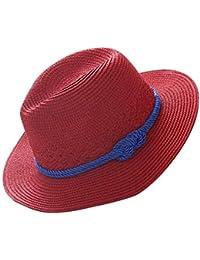 e6f0cf587d8be 1X Sombrero De Paja para Mujer Sol El Sombrero para Bastante Sombrero De  ala Ancha Playa Sombrero Anti Primavera Verano Otoño…