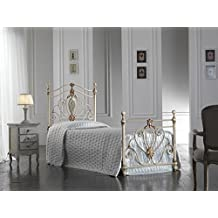 Amazon.it: letto in ferro singolo - Bianco