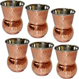 Tumblers Glasses Set of 6 Copper and Sta...