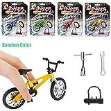 QNFY Bicyclette de Doigt, DIY Assembler Miniature Finger Mountain Bike Mini Alliage Vélo Modèle Creative Vélo Jouets Jeux Enfants Cadeau (Couleur Aléatoire)