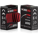 2 Stück Wicked Chili Akku für GoPro Hero 3+ / Hero 3 – Black/White/Silver Edition [ersetzt AHDBT-302 / AHDBT-301] (ProSeries, 1180mA, 3,7Volt, 4,37Wh, je Akku bis zu 118 Minuten Videoaufnahme)