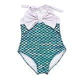 7-Mi Baby Einteiler Badeanzug,Kinder Mädchen Meerjungfrau Bademode Schwimmanzug -2-6 Jahre