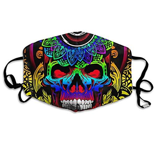 Masken, Masken für Erwachsene, Psychedelic Skull Reusable Anti Dust Face Mouth Cover Mask Protective Breath Healthy Safety (Bush-maske)