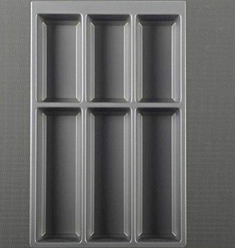 Agoform Besteckeinsatz Separado Besteckkasten Grau Einlegematte ArciTech Zarge (60 cm)