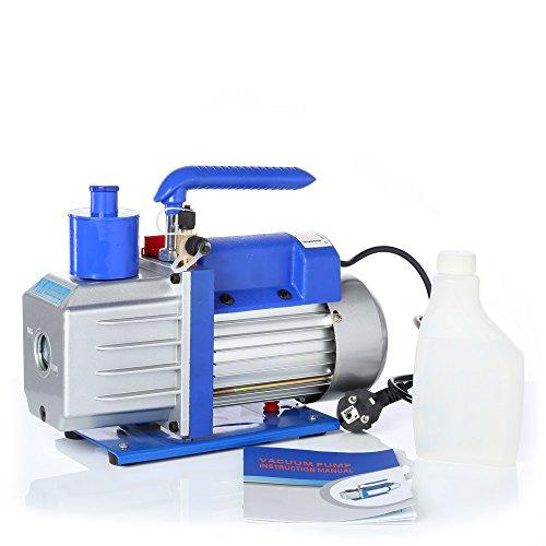 Melko® Vakuum-Pumpen Unterdruckpumpe Blau Leistung bis 100 l/min wählbar mit Motor (100 l/min) (Vakuum-motor)