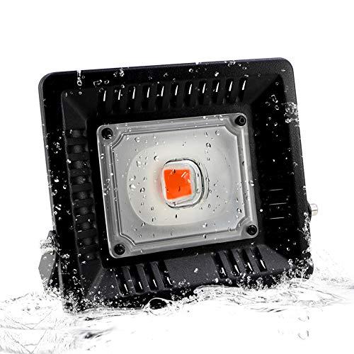 Led Grow Planzenlampe 50W Wachstumslampe Pflanzenleuchte Vollspektrum LED Serie Mit UV IR Licht Für Innen- Gewächshaus Grow Box Veg Keimung Blühen(1er Pack) Serie Led-licht