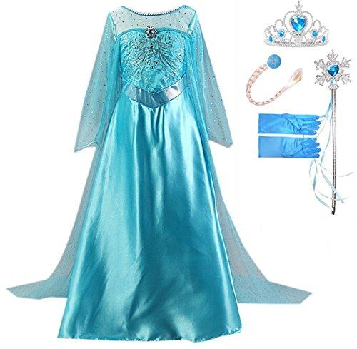 949780704 GenialES Disfraz Vestido Guantes Peluca Varitas Mágicas Tiara Diadema de  Princesa Largo Lindo Regalo Cumpleaños Disfraz de Carnaval Fiesta Cosplay  Boda ...