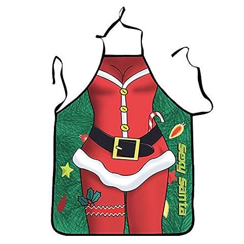 FENICAL Lustig bedruckte Küche Schürze Weihnachten Santa Deer Katze für Party Grill Weihnachtsgeschenke