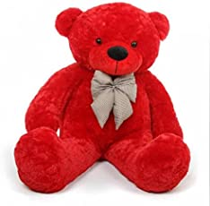Rt Soft Toys Teddy Bear (Best For Someone Special) (4 Feet (121 Cm), Red)