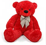 #1: Rt Soft Toys Teddy Bear (Best For Someone Special) (4 Feet (121 Cm), Red)