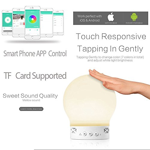 Spy Gadget® Lampada a LED da comodino con altoparlante Bluetooth