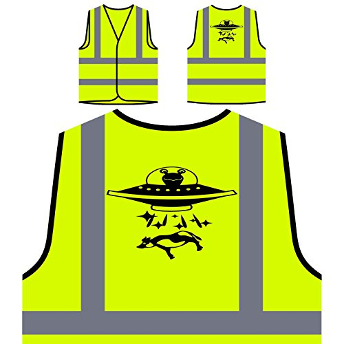 Ausländer In Untertasse Personalisierte High Visibility Gelbe Sicherheitsjacke Weste s665v