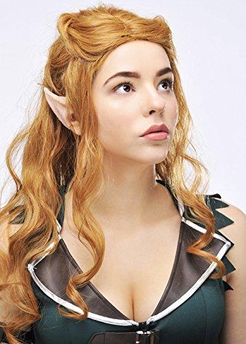 Der Kostüm Hobbit Elfen - Der Hobbit Tauriel Stil Auburn Elf Perücke