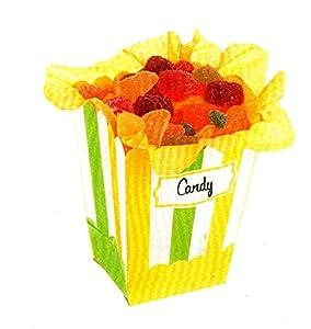 GiviItalia 41171 - Cajas de maíz (4 unidades, 6,5 x 8 x 14 cm), color verde y amarillo