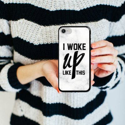 Apple iPhone X Silikon Hülle Case Schutzhülle Flawless Beyonce I woke up like this Hard Case schwarz