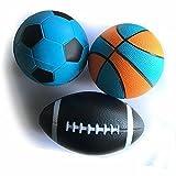 CHASTEP 3 stück schaumstoffball Sports sipele bälle für Kinder idealer Basketball Fussball für Kinder (Fussball Basketball Rugby) Weihnachten Geburtstag Geschenk