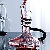 JUSTINZZ Vin Carafe à Décanter, 1.8 L Carafe à Vin Verre Décanter Carafe pour Vin...