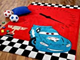 Kinder Spiel Teppich Fantasy KIDS Race Rot Blau Türkis in