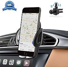 Auto Handyhalterung Kratzschutz 360°Drehbarem Gelenk [Lebenslange Garantie] IZUKU Handy Halterung Auto Lüftung Universal Kompatibel für iPhone8/7/6 Samsung Smartphone mit Einer Breite von 5,3cm-9,5cm