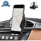 Handyhalterung Auto Kratzschutz 360°Drehbarem Gelenk[Lebenslange Garantie]IZUKU Handyhalter Auto Lüftungsgitter Universal Kompatibel für iPhone8/7/6 Samsung Smartphone mit einer Breite von 5,3cm-9,5cm