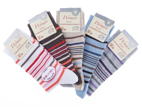 10 Paar Damen Socken ohne Gummi von SOUNON® (4590), Groesse: 39-42