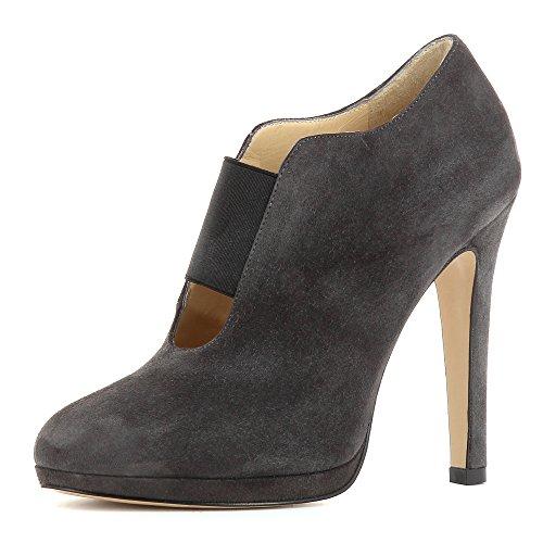 ELEONORA Damen Ankle-Boot Rauleder Grau