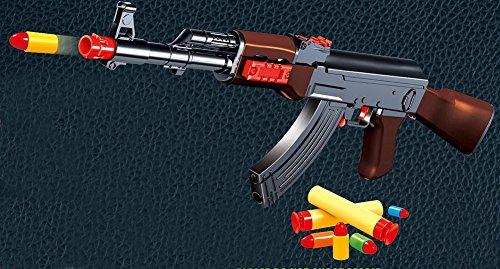 Brigamo 572 - Spielzeugblaster Gewehr AK 47 Kalaschinkow, Dartblaster Sturmgewehr Kaliber .44 inkl. Softdartpfeile gratis thumbnail