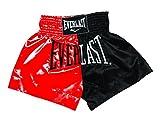 Everlast House EM7, Pantalón de thai boxing, Hombre, Rojo/Negro, M