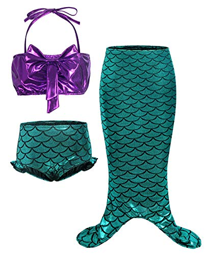AmzBarle Vestido Disfraz Sirena Traje Niña
