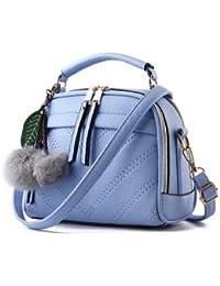 New Pu Leather Women Leather Handbag Hairball Women Messenger Bags Pouch Shoulder Crossbody Bags - B07B24V2PT