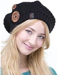 Chapeau Nelly - Bonnet en tricot avec des boutons de style français pour les femmes - hiver 2013/2014, bonnet tricoté