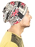 RICKYY rick_cap1004 Multi-Coloured stretchable Slouchy printed Beanie multi-ware cap