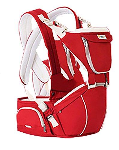 L&YKinder-Baby-Carrier -Perfect 360 Rucksack Alternative zum Wandern Kleinkind -Infant -mit 9 Tragepositionen und Ergonomisches Design mit Hüftschutz , china red