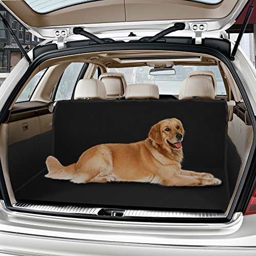 Car Boot Liner,IWILCS Heavy Duty Universal Waterproof Car Boot Liner Pet Dog Seat Cover Mat Car Back Seat Protector Hammock